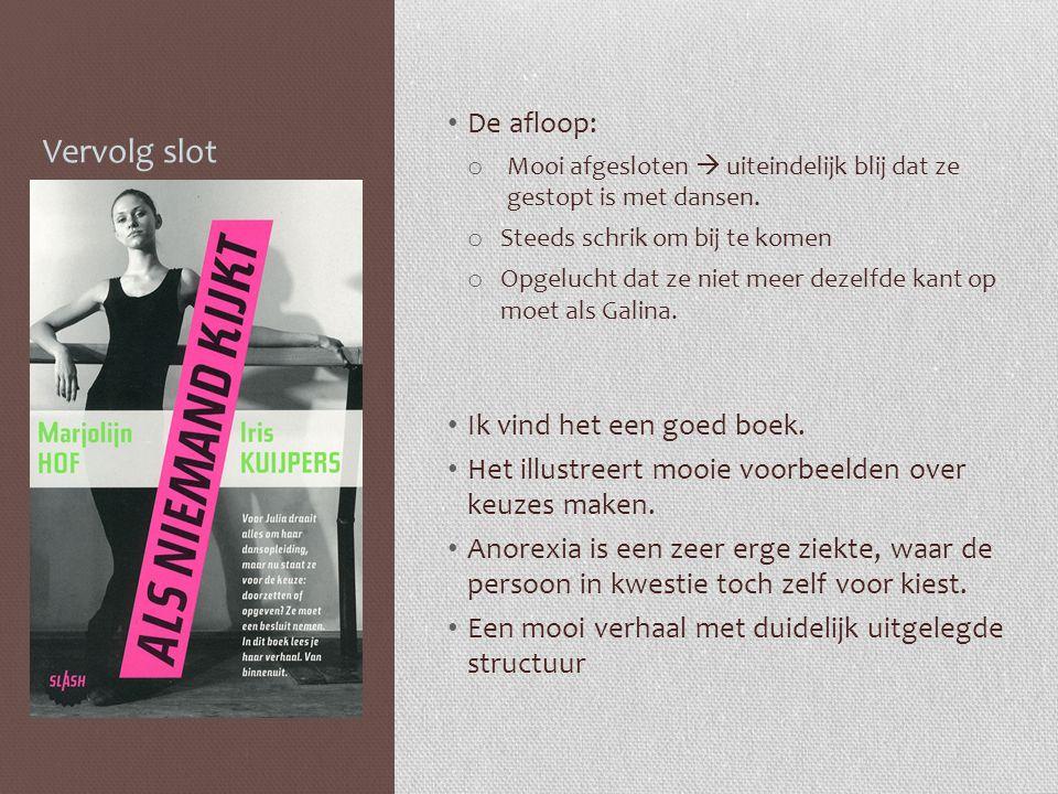 Vervolg slot De afloop: Ik vind het een goed boek.