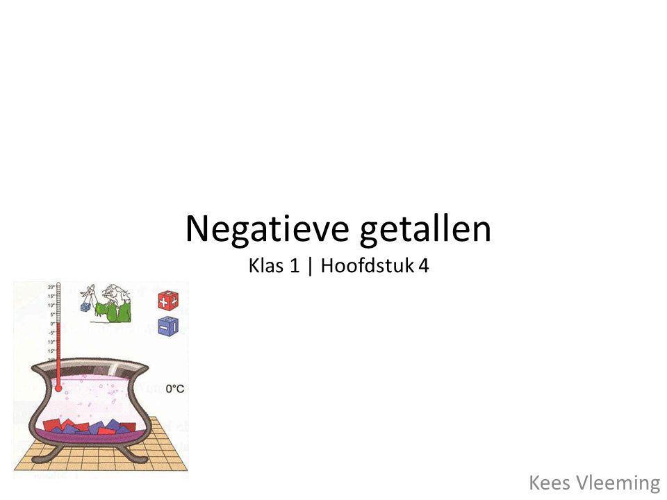 Negatieve getallen Klas 1 | Hoofdstuk 4