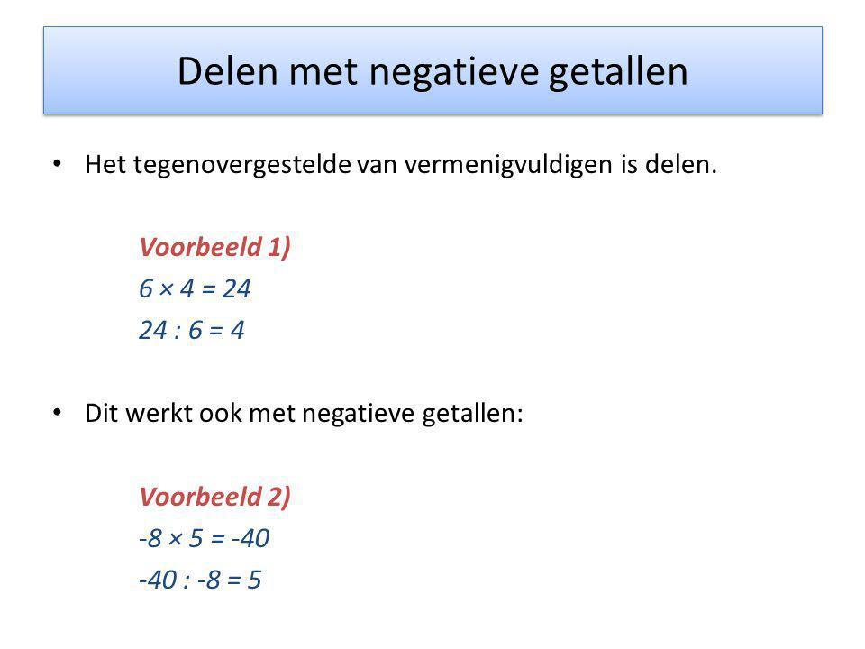 Delen met negatieve getallen