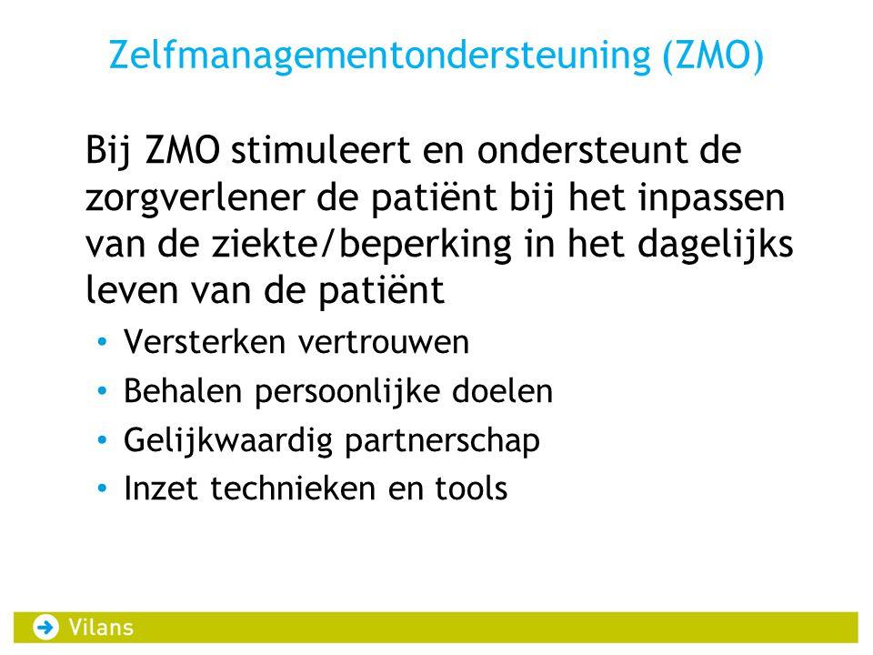 Zelfmanagementondersteuning (ZMO)