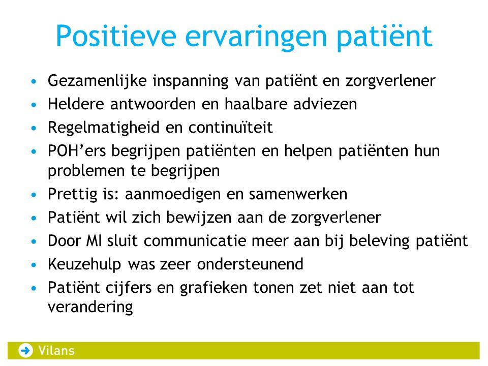 Positieve ervaringen patiënt