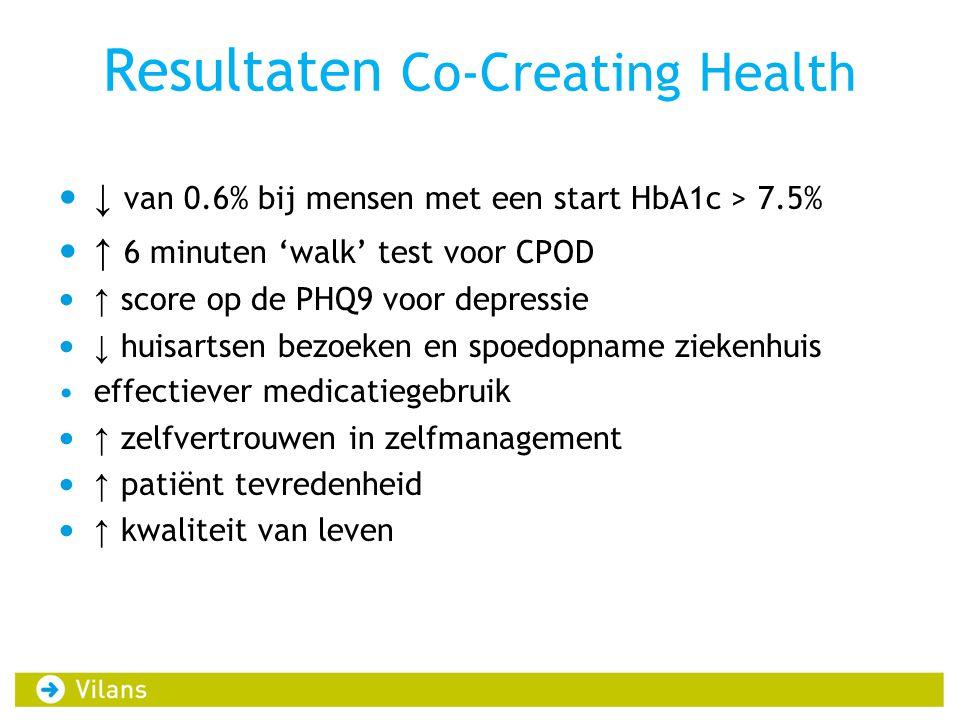 Resultaten Co-Creating Health