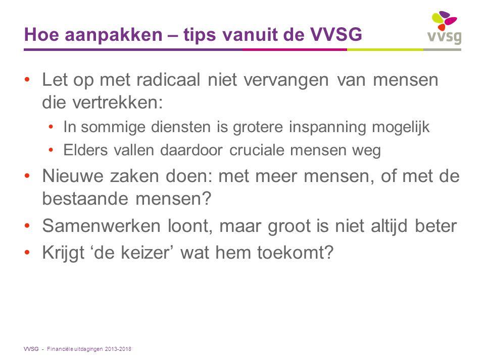 Hoe aanpakken – tips vanuit de VVSG