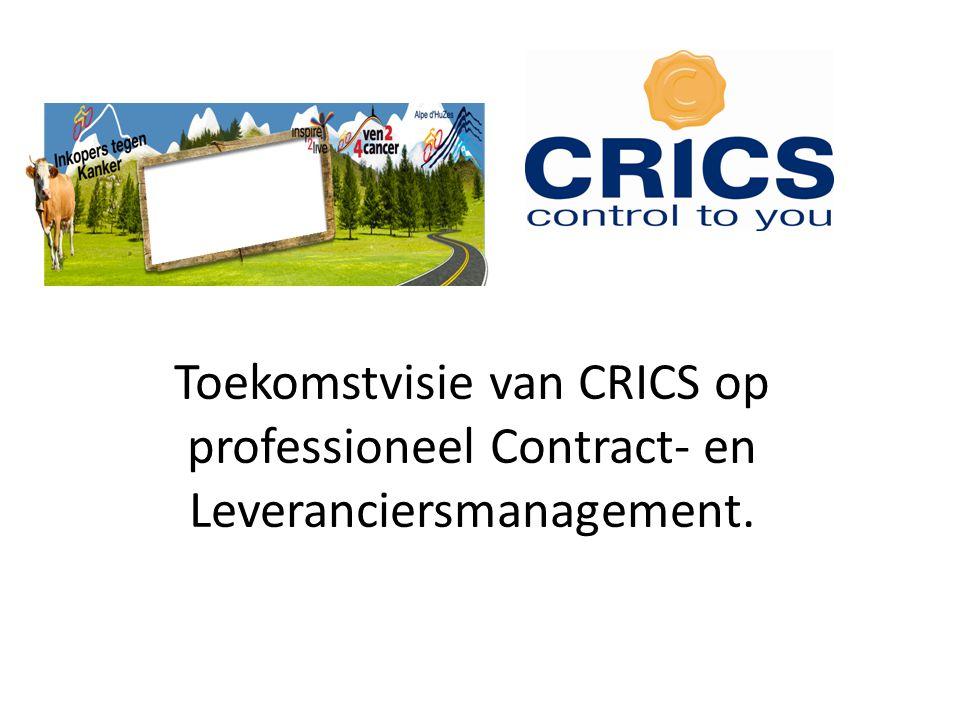 Toekomstvisie van CRICS op professioneel Contract- en Leveranciersmanagement.