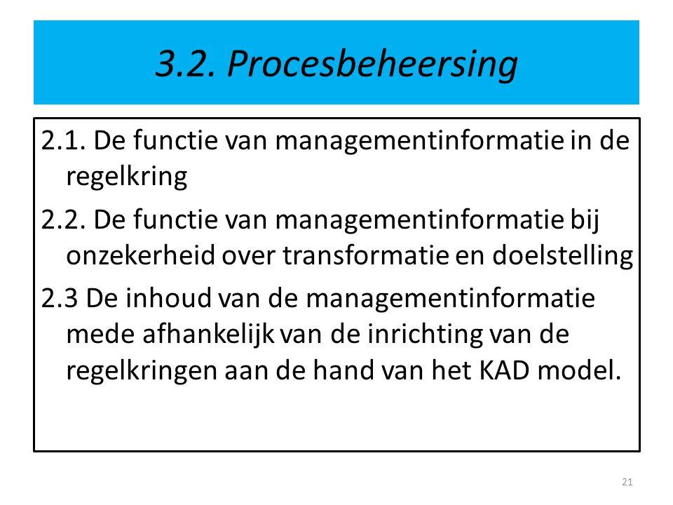3.2. Procesbeheersing