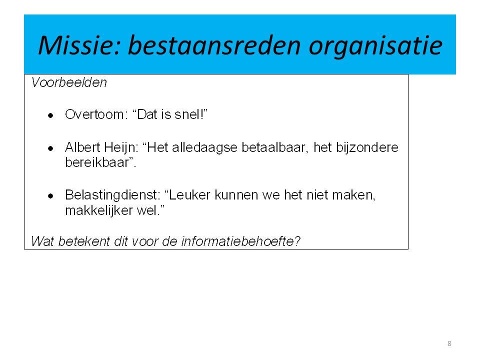 Missie: bestaansreden organisatie