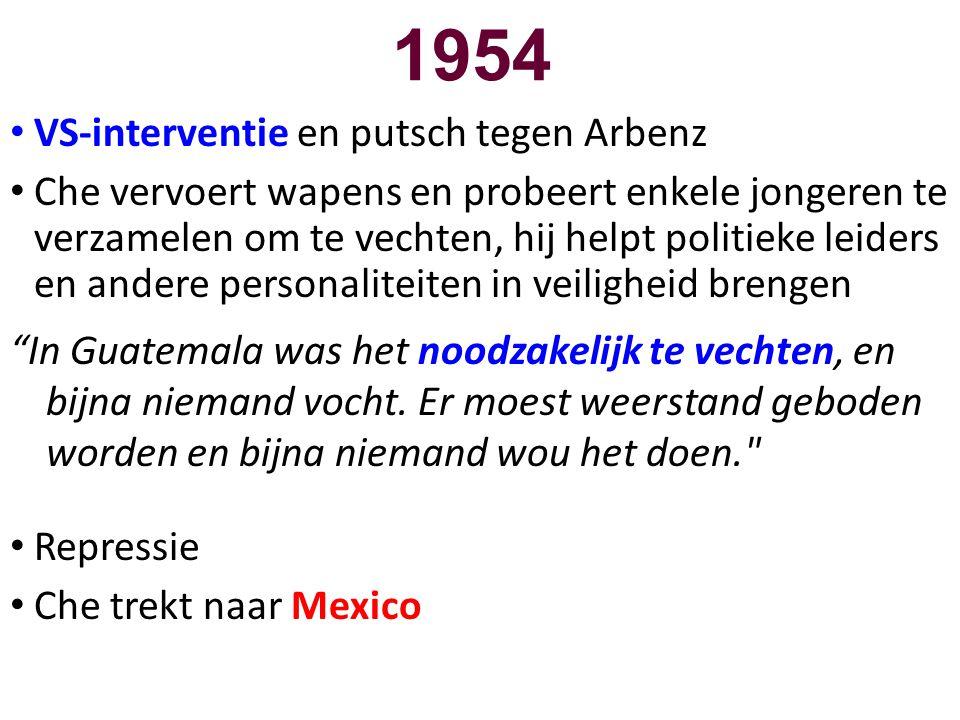 1954 VS-interventie en putsch tegen Arbenz
