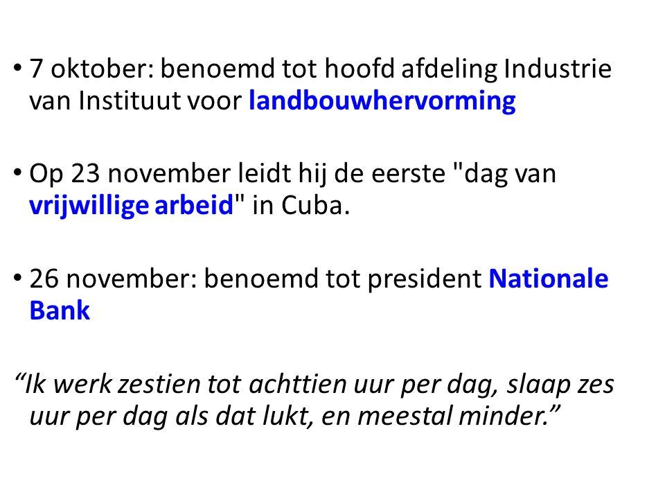 7 oktober: benoemd tot hoofd afdeling Industrie van Instituut voor landbouwhervorming