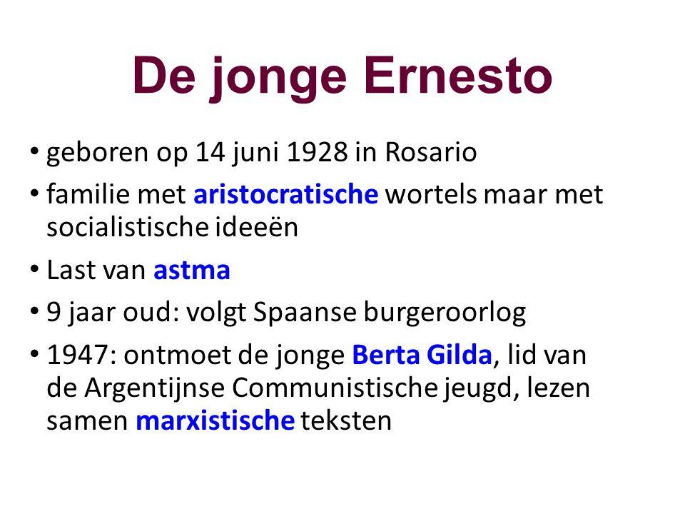De jonge Ernesto geboren op 14 juni 1928 in Rosario