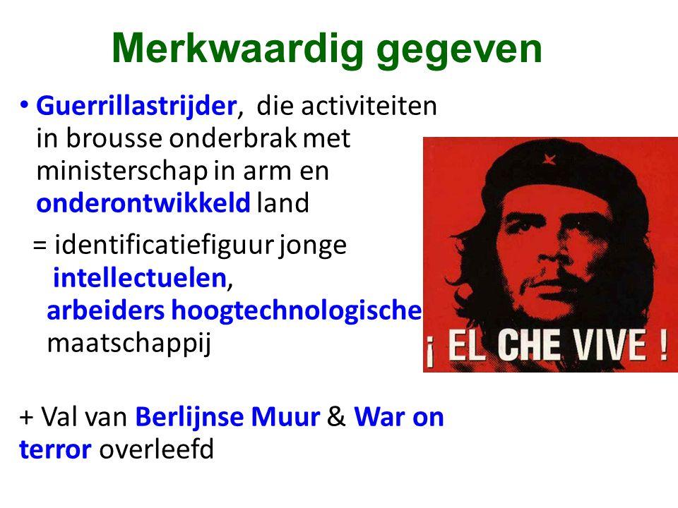Merkwaardig gegeven Guerrillastrijder, die activiteiten in brousse onderbrak met ministerschap in arm en onderontwikkeld land.