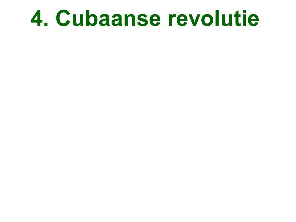 4. Cubaanse revolutie