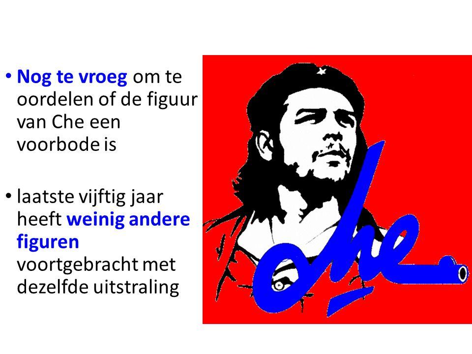 Nog te vroeg om te oordelen of de figuur van Che een voorbode is