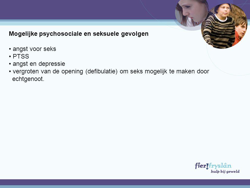 Mogelijke psychosociale en seksuele gevolgen