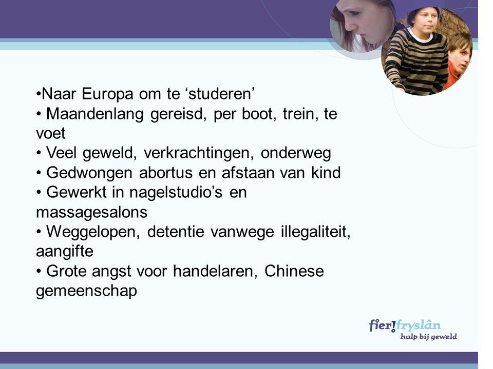 Naar Europa om te 'studeren'