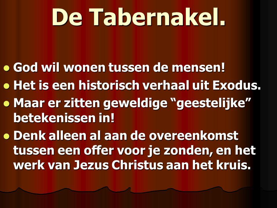 De Tabernakel. God wil wonen tussen de mensen!