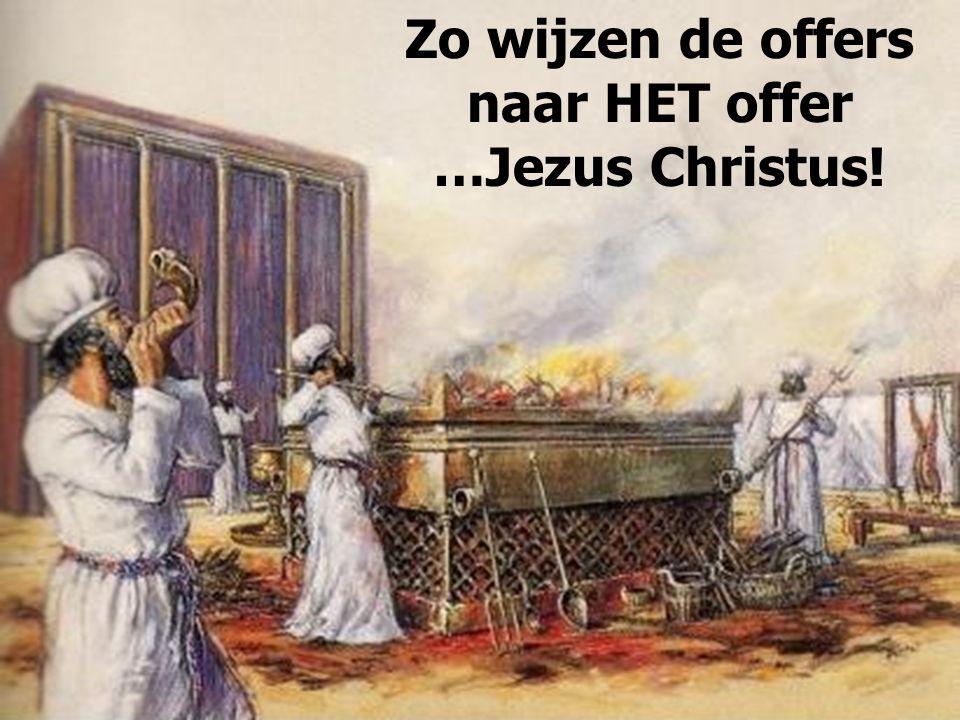 Zo wijzen de offers naar HET offer …Jezus Christus!