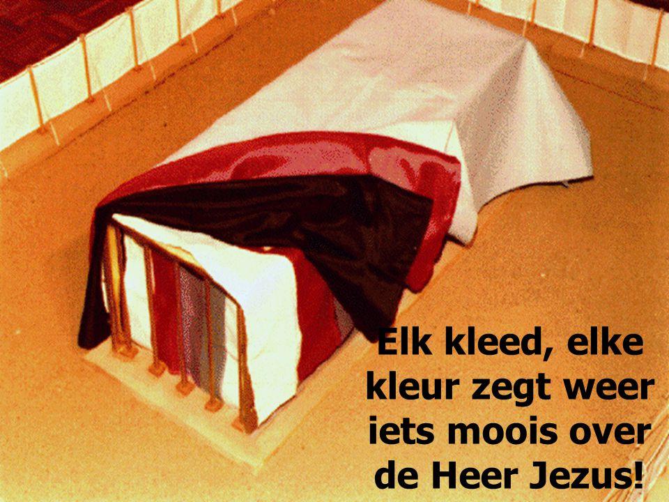 Elk kleed, elke kleur zegt weer iets moois over de Heer Jezus!