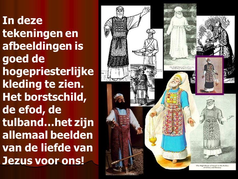 In deze tekeningen en afbeeldingen is goed de hogepriesterlijke kleding te zien.