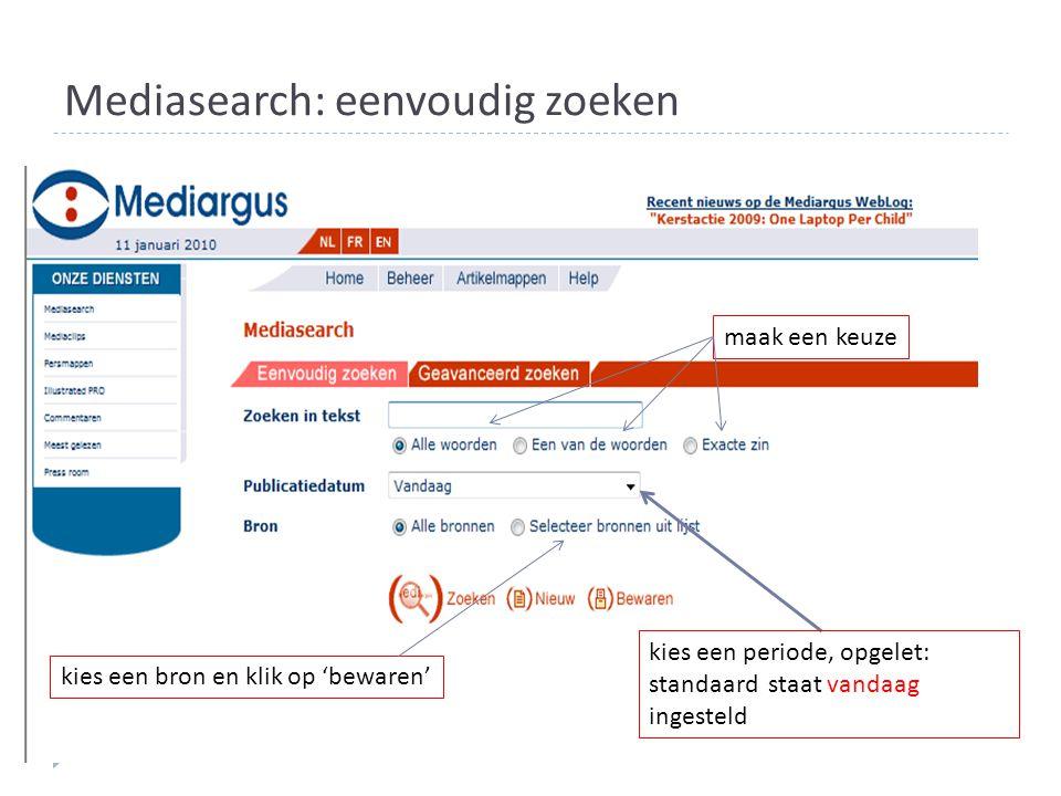 Mediasearch: eenvoudig zoeken