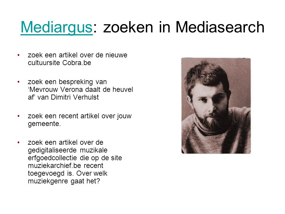Mediargus: zoeken in Mediasearch