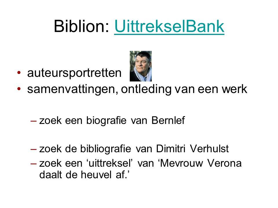 Biblion: UittrekselBank