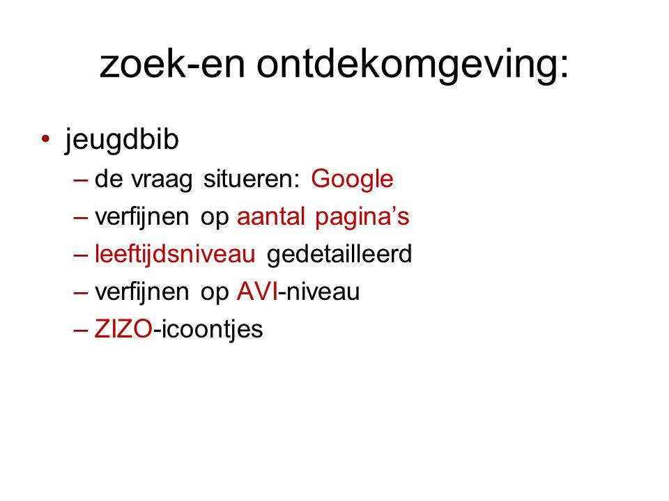 zoek-en ontdekomgeving: