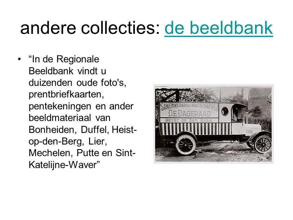 andere collecties: de beeldbank