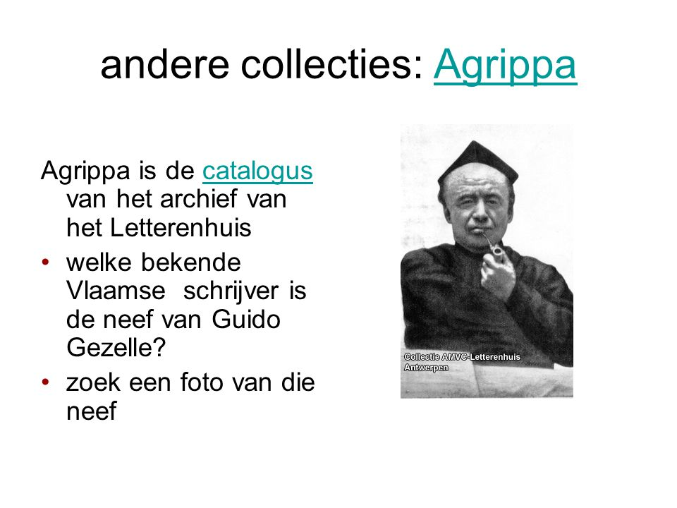 andere collecties: Agrippa