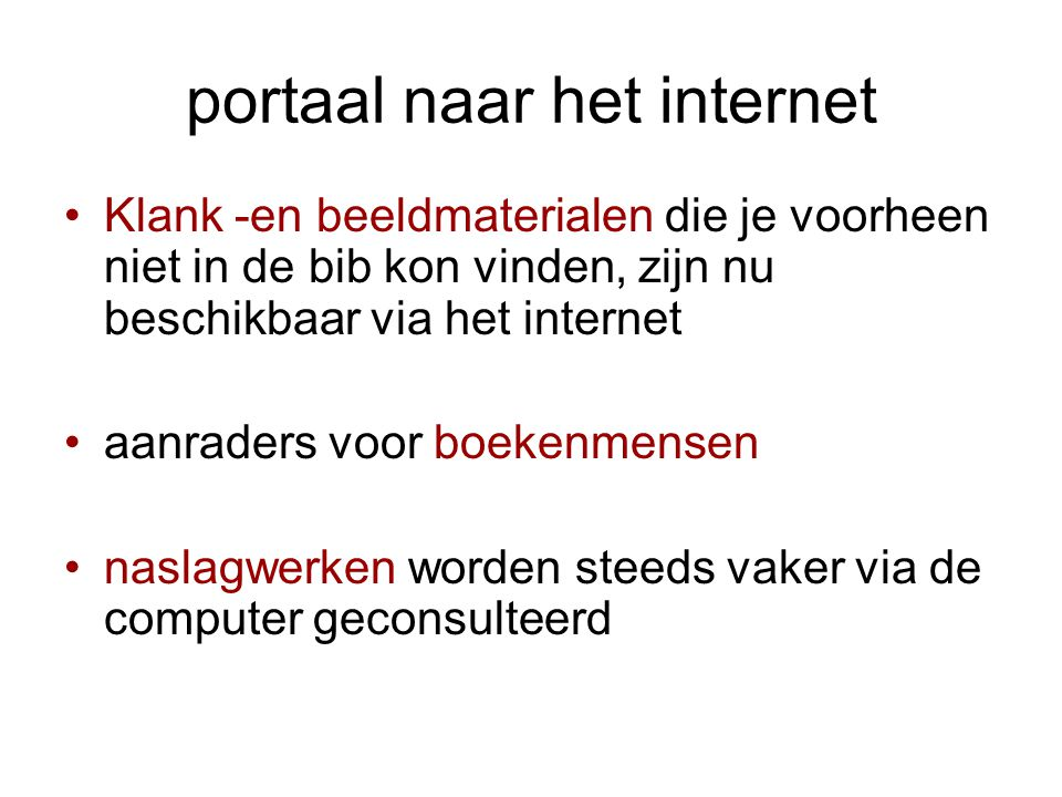 portaal naar het internet