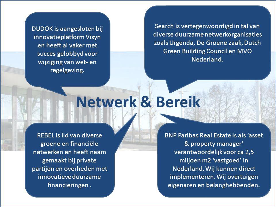 Search is vertegenwoordigd in tal van diverse duurzame netwerkorganisaties zoals Urgenda, De Groene zaak, Dutch Green Building Council en MVO Nederland.