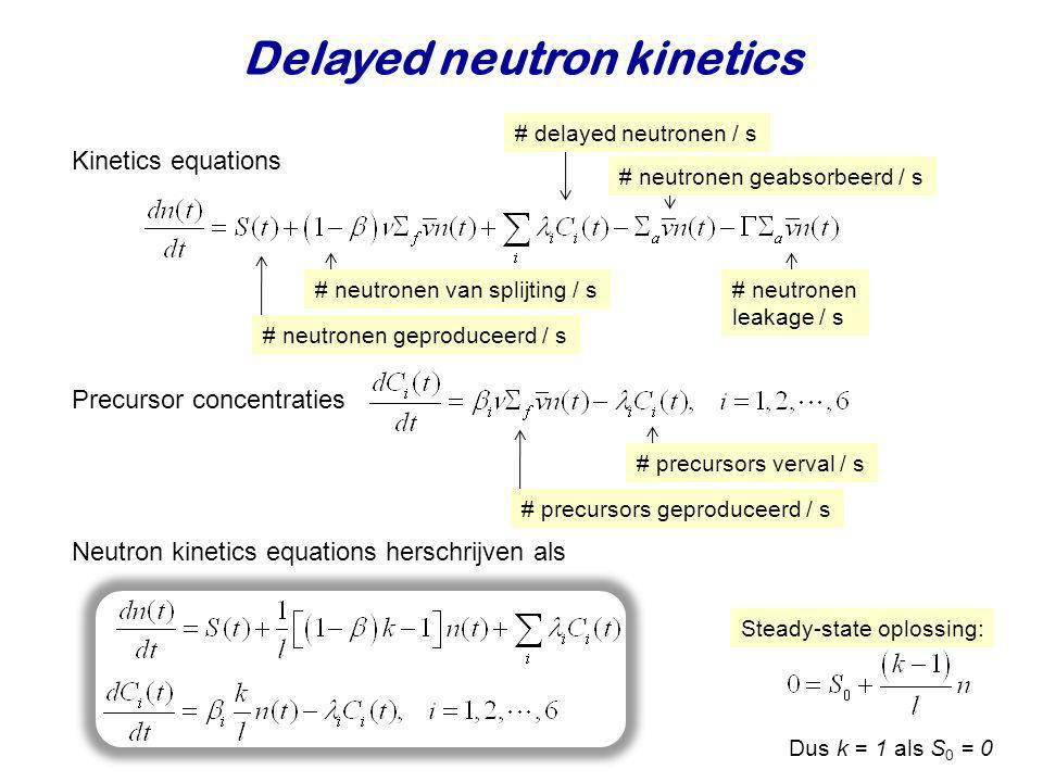 Delayed neutron kinetics