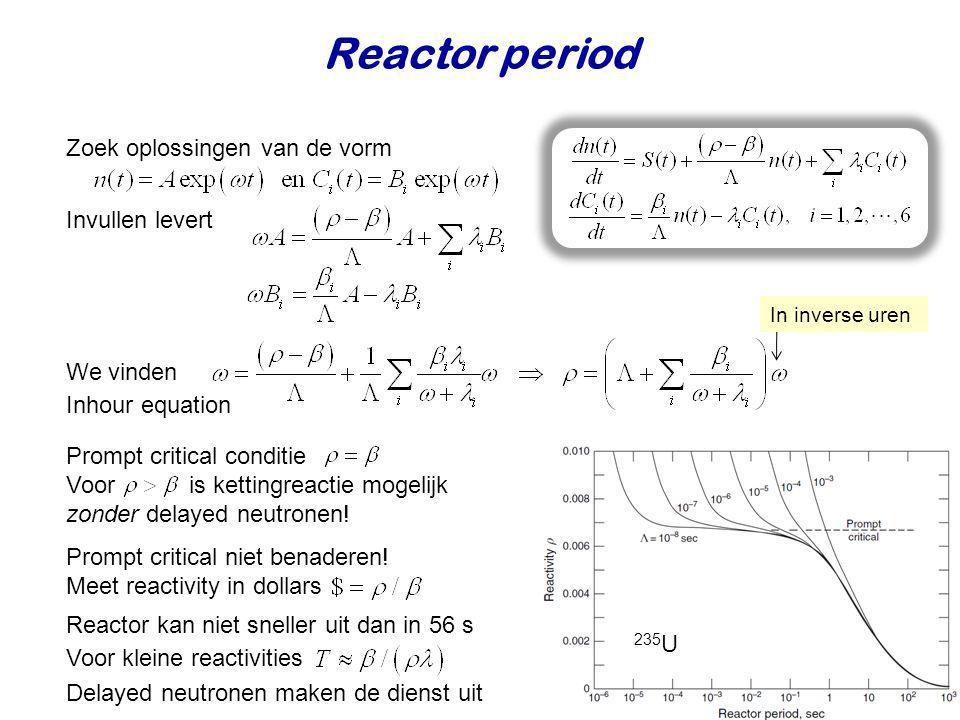 Reactor period Zoek oplossingen van de vorm Invullen levert We vinden
