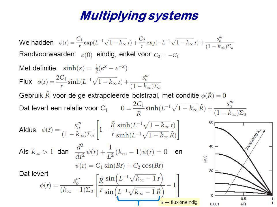 Multiplying systems We hadden Randvoorwaarden: eindig, enkel voor