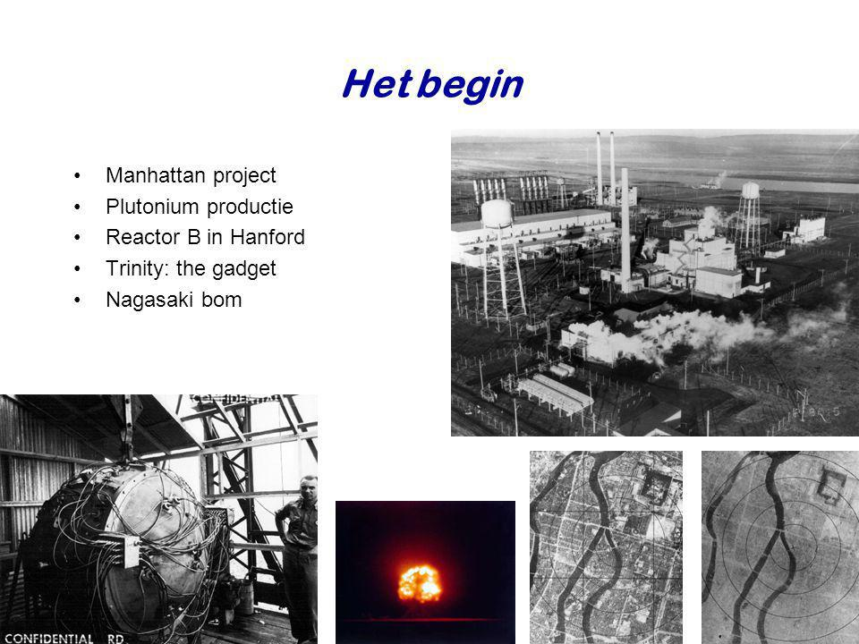 Het begin Manhattan project Plutonium productie Reactor B in Hanford