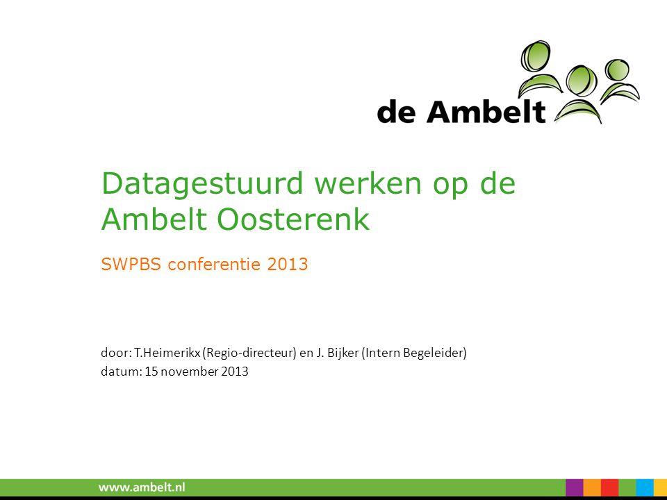 Datagestuurd werken op de Ambelt Oosterenk