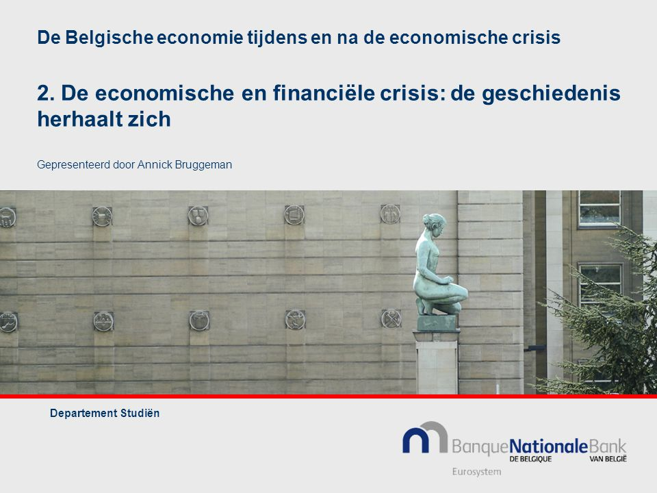 De Belgische economie tijdens en na de economische crisis 2