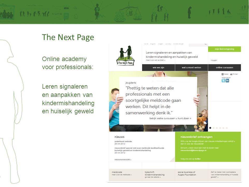 The Next Page Online academy voor professionals: