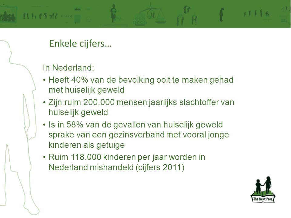 Enkele cijfers… In Nederland: