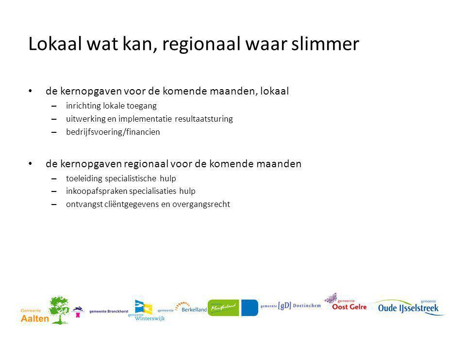 Lokaal wat kan, regionaal waar slimmer