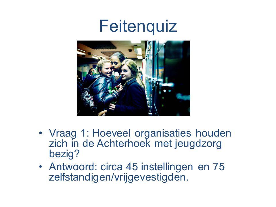 Feitenquiz Vraag 1: Hoeveel organisaties houden zich in de Achterhoek met jeugdzorg bezig