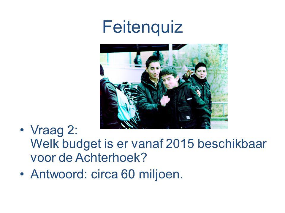 Feitenquiz Vraag 2: Welk budget is er vanaf 2015 beschikbaar voor de Achterhoek.