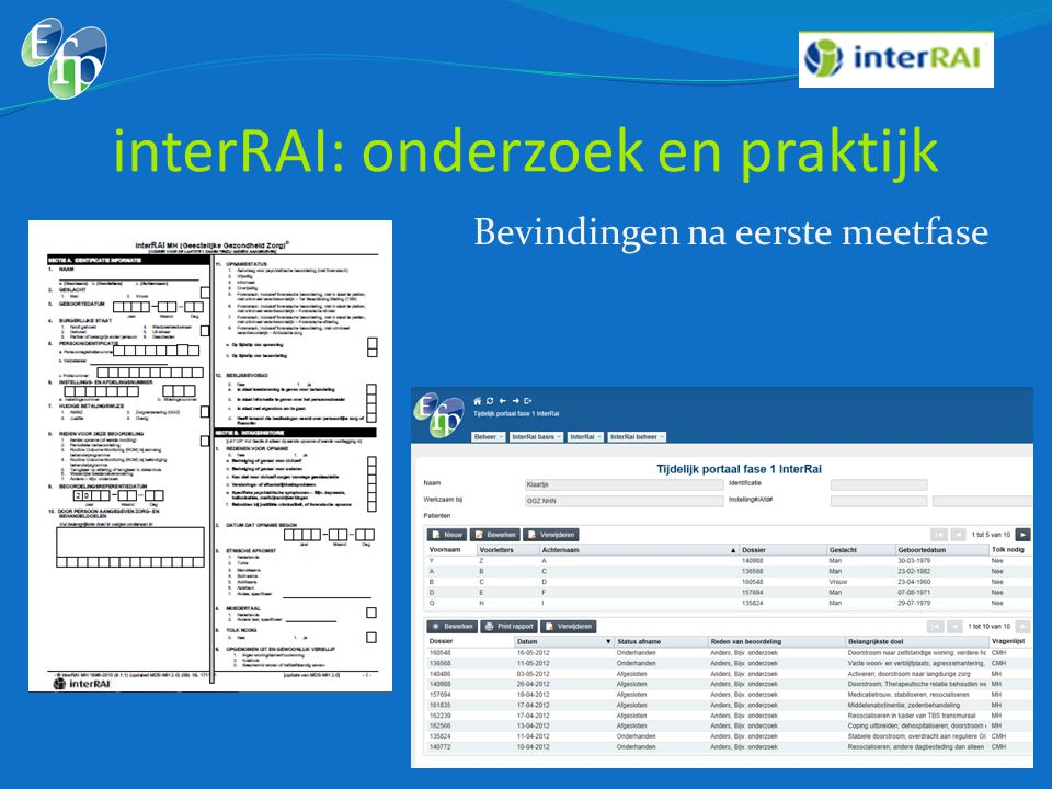 interRAI: onderzoek en praktijk