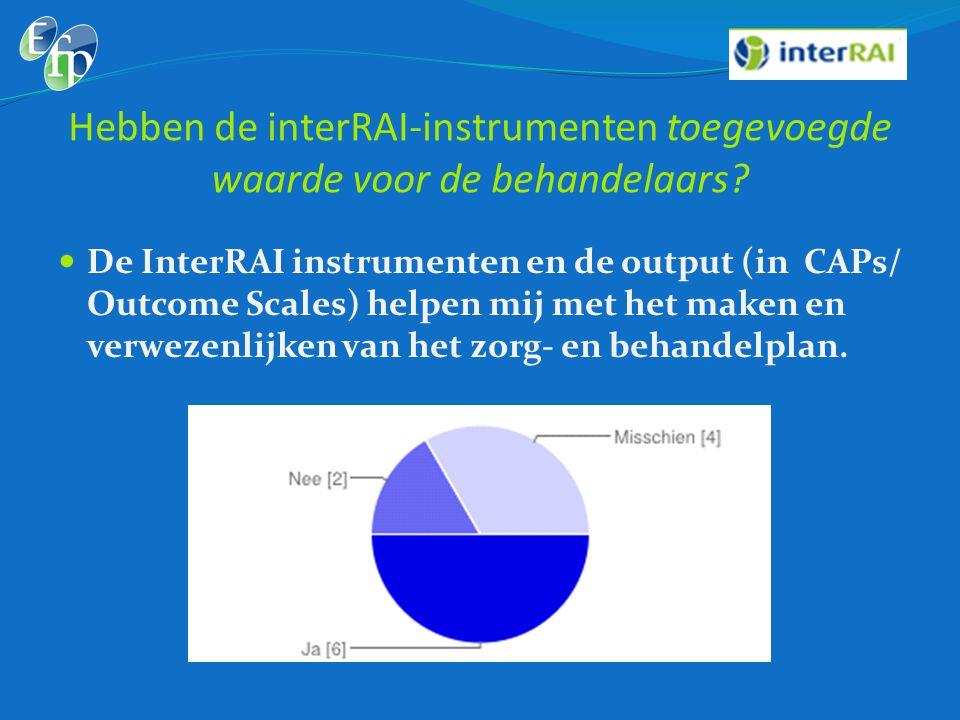 Hebben de interRAI-instrumenten toegevoegde waarde voor de behandelaars