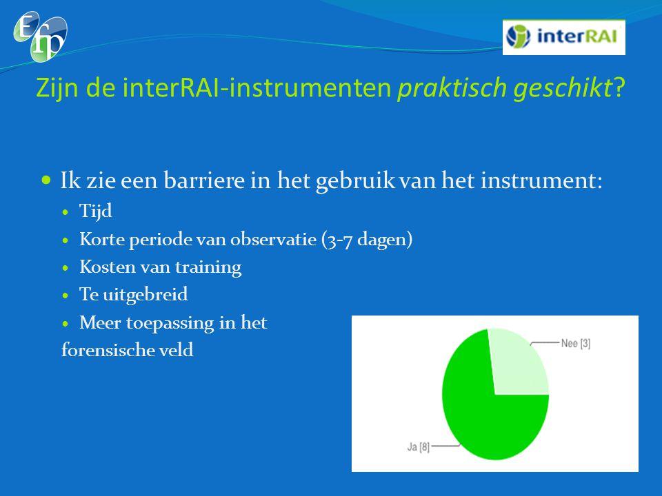 Zijn de interRAI-instrumenten praktisch geschikt