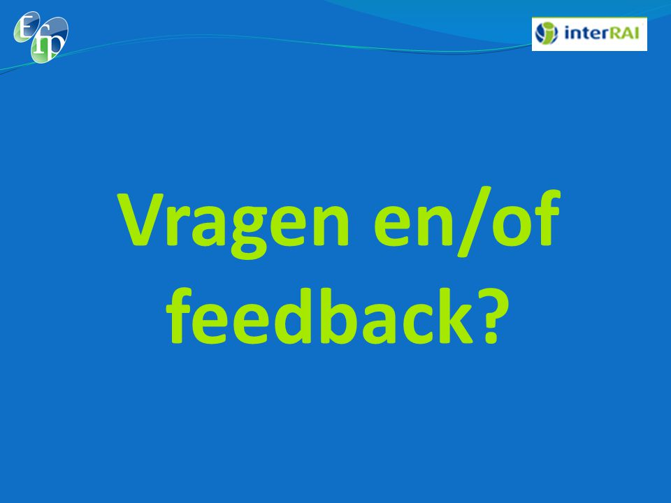 Vragen en/of feedback