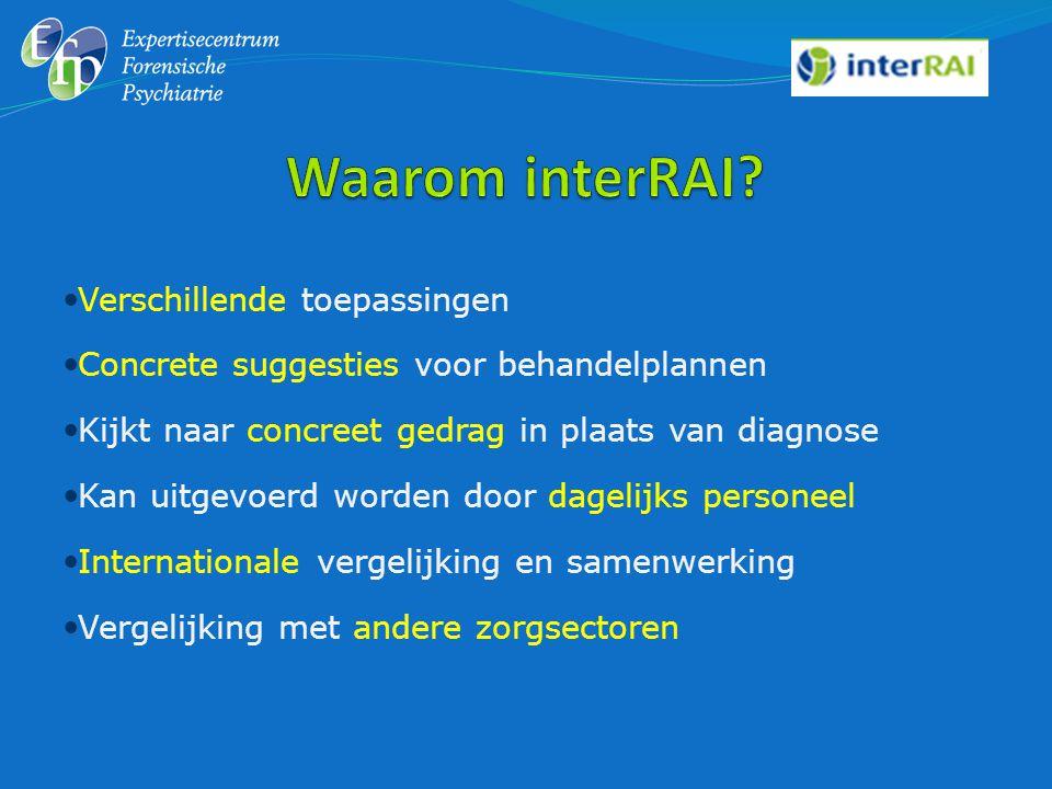 Waarom interRAI Verschillende toepassingen