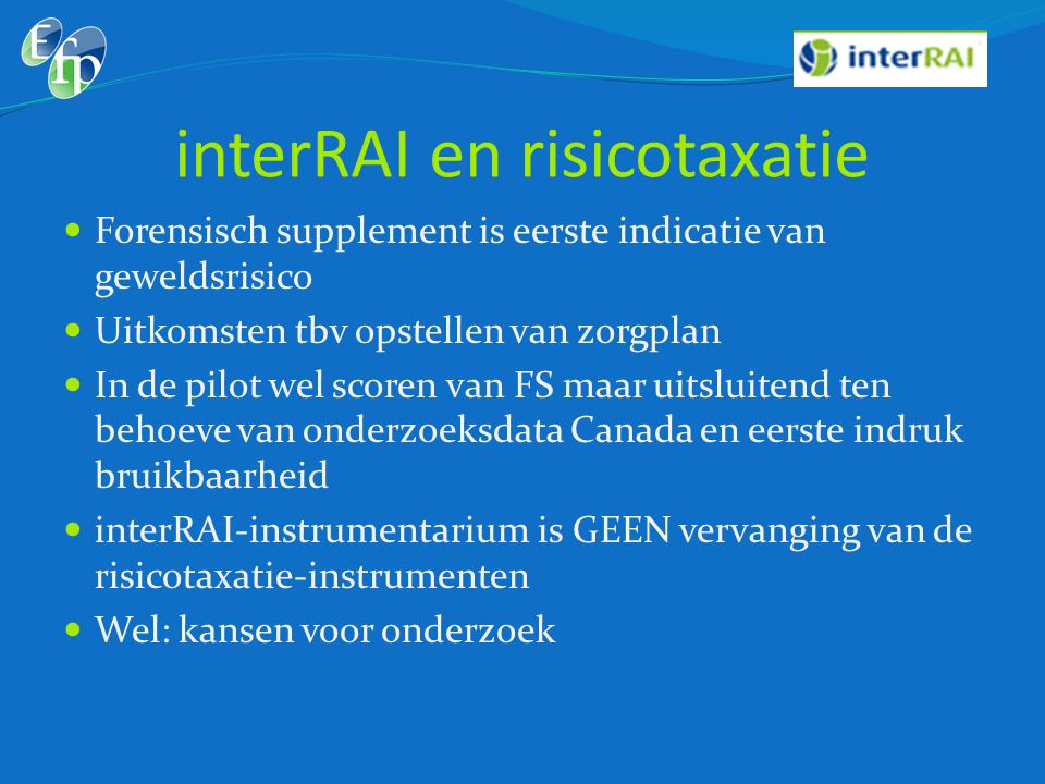 interRAI en risicotaxatie