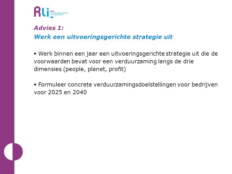Advies 1: Werk een uitvoeringsgerichte strategie uit