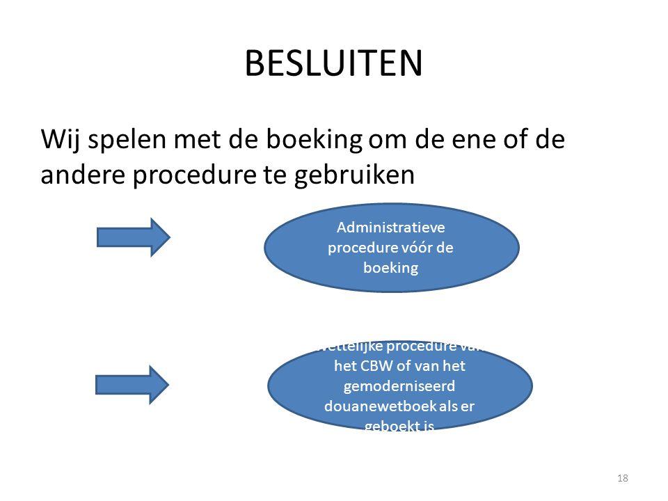Administratieve procedure vóór de boeking