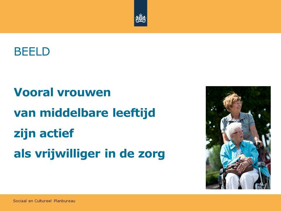 BEELD Vooral vrouwen van middelbare leeftijd zijn actief als vrijwilliger in de zorg